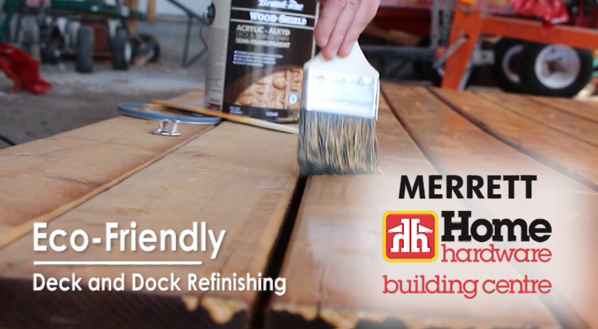 Title Card for eco friendly Refinishing your deck video